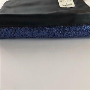 Zara Bags - Zara Sparkle Blue Clutch NWT